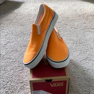 Neon Orange Vans size 6 women's